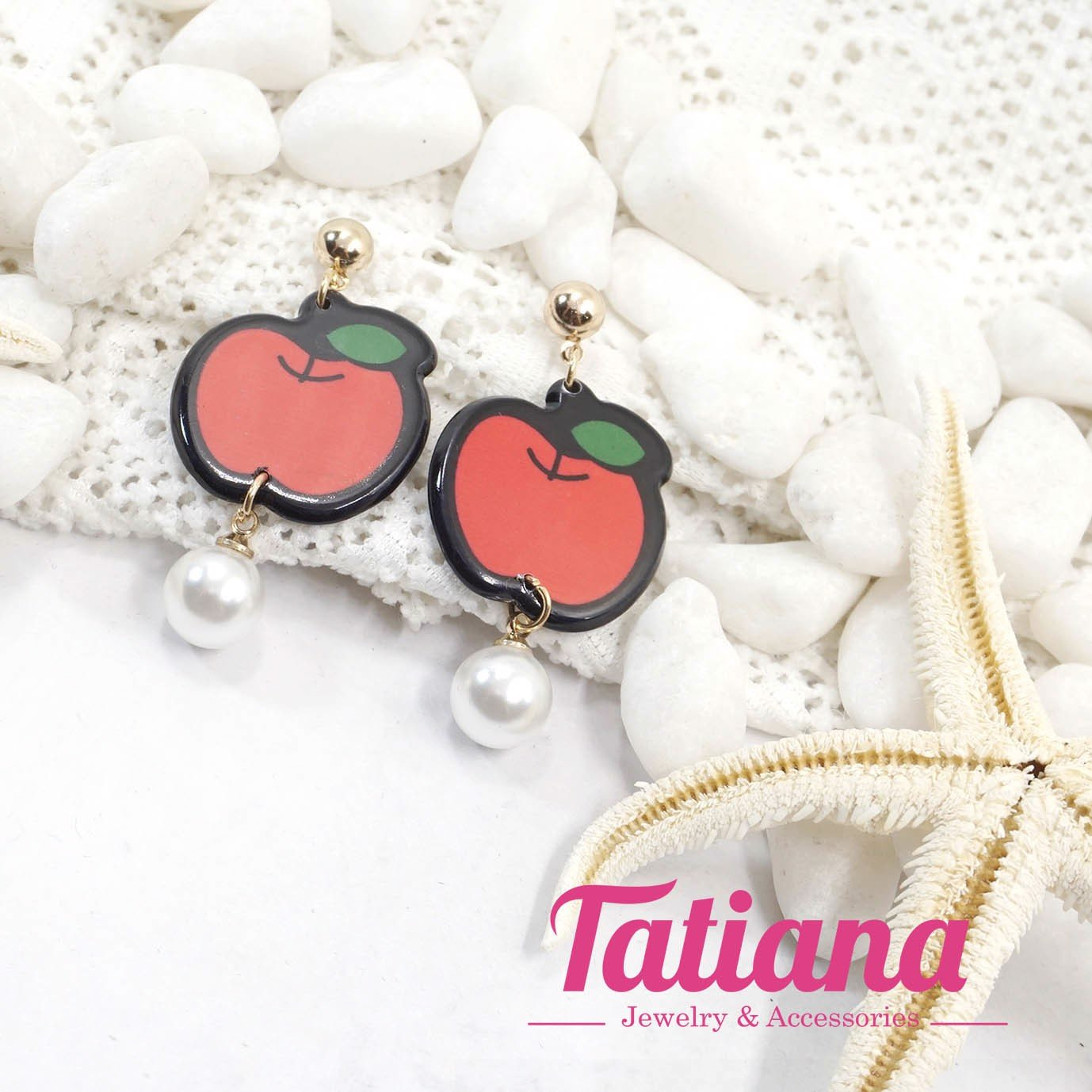 Bông Tai Korean Tropical Apple Tatiana BH3338