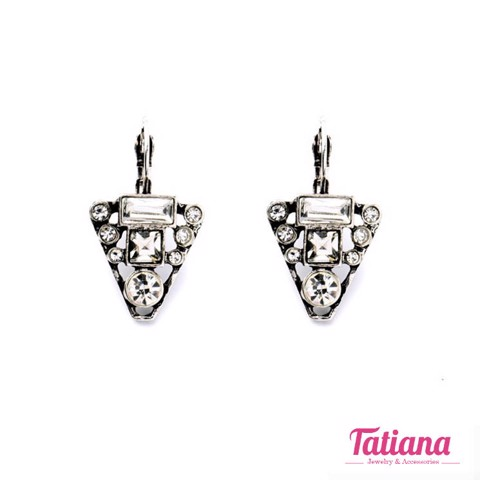 Bông Tai Statement Retro Triangle Tatiana BH3524
