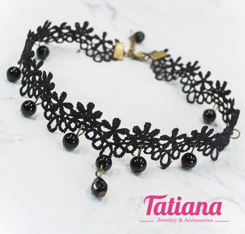 Vòng Cổ Choker Floral Mix Bubble Tatiana CD2590