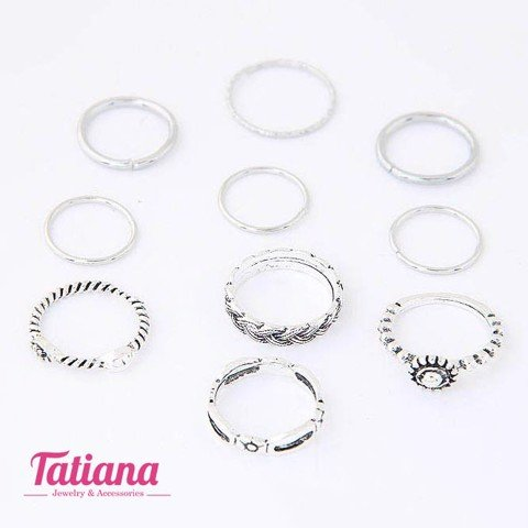 Set 10 Nhẫn Midi Ring Mix Tatiana NH2225