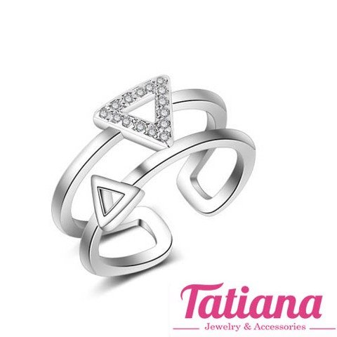 Nhẫn 2 Layer Triangle Tatiana NB2398