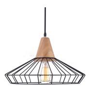 Chao đèn lồng sắt chuôi gỗ MC_LSF4024