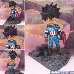 One Piece Luffy Cosplay Avengers Captain America SD