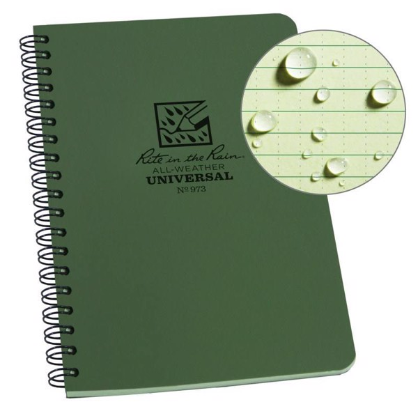 SPIRAL NOTEBOOK - UNIVERSAL - GREEN