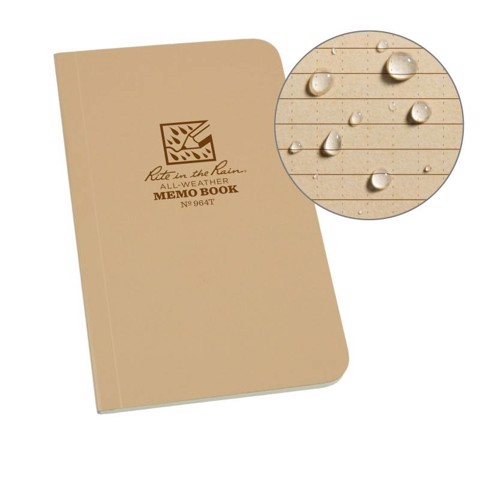 FIELD FLEX MEMO BOOK - UNIVERSAL - TAN