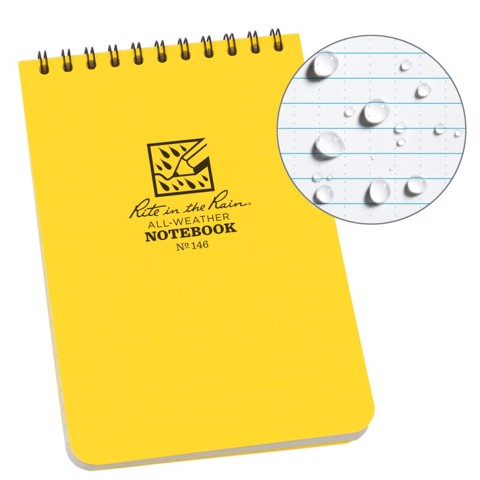 4 X 6 NOTEBOOK - YELLOW