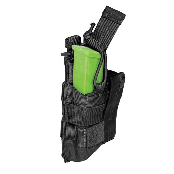 Pouch DOUBLE PISTOL BUNGEE/COVER - Black