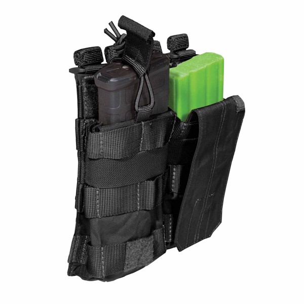 Pouch DOUBLE AR BUNGEE/COVER - Black
