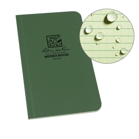 FIELD FLEX MEMO BOOK - UNIVERSAL - GREEN
