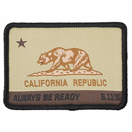 CA Bear Patch - Coyote