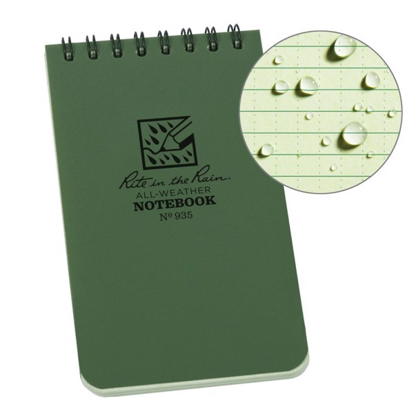 Sổ Tay Rite In The Rain 3x5 TOP SPIRAL NOTEBOOK - Green