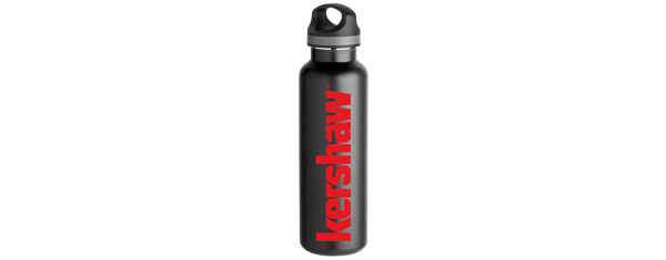 KERSHAW WATER BOTTLE - BLACK, INSULATED