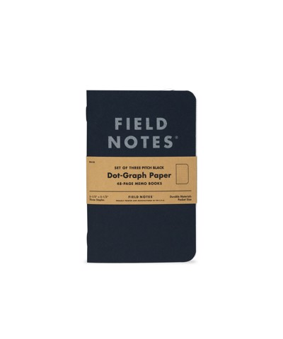 3-PACK PITCH BLACK MEMO BOOK