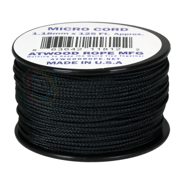 Dây Micro Cord 1.18mm - 100ft - Black