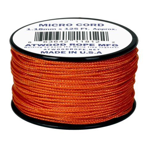 Dây Micro Cord 1.18mm - 100ft - Brunt Orange