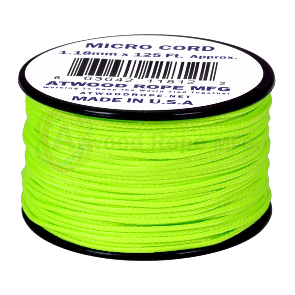 Dây Micro Cord 1.18mm - 100ft - Neon Green