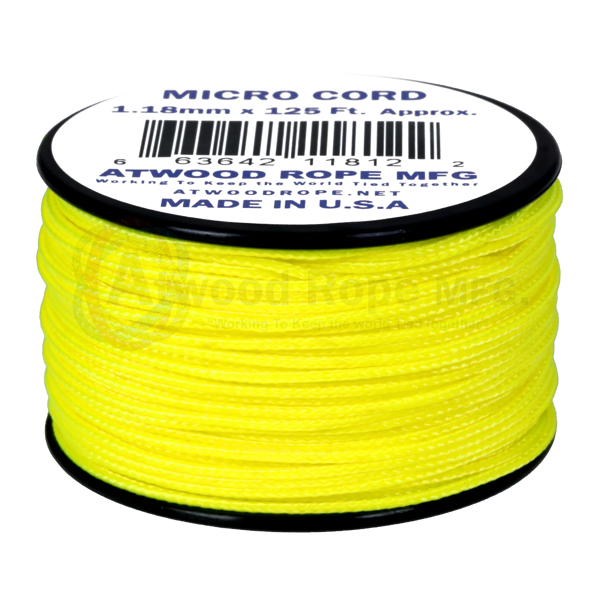 Dây Micro Cord 1.18mm - 100ft - Neon Yellow