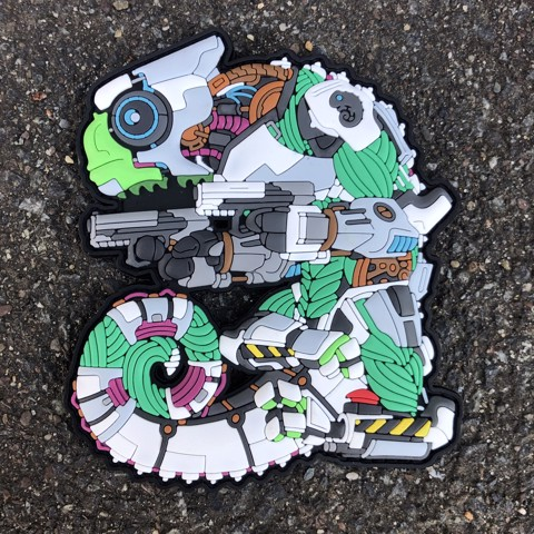 Tacopsgear Chameleon Legion Cham Cyborg BORG THE SHELL patch