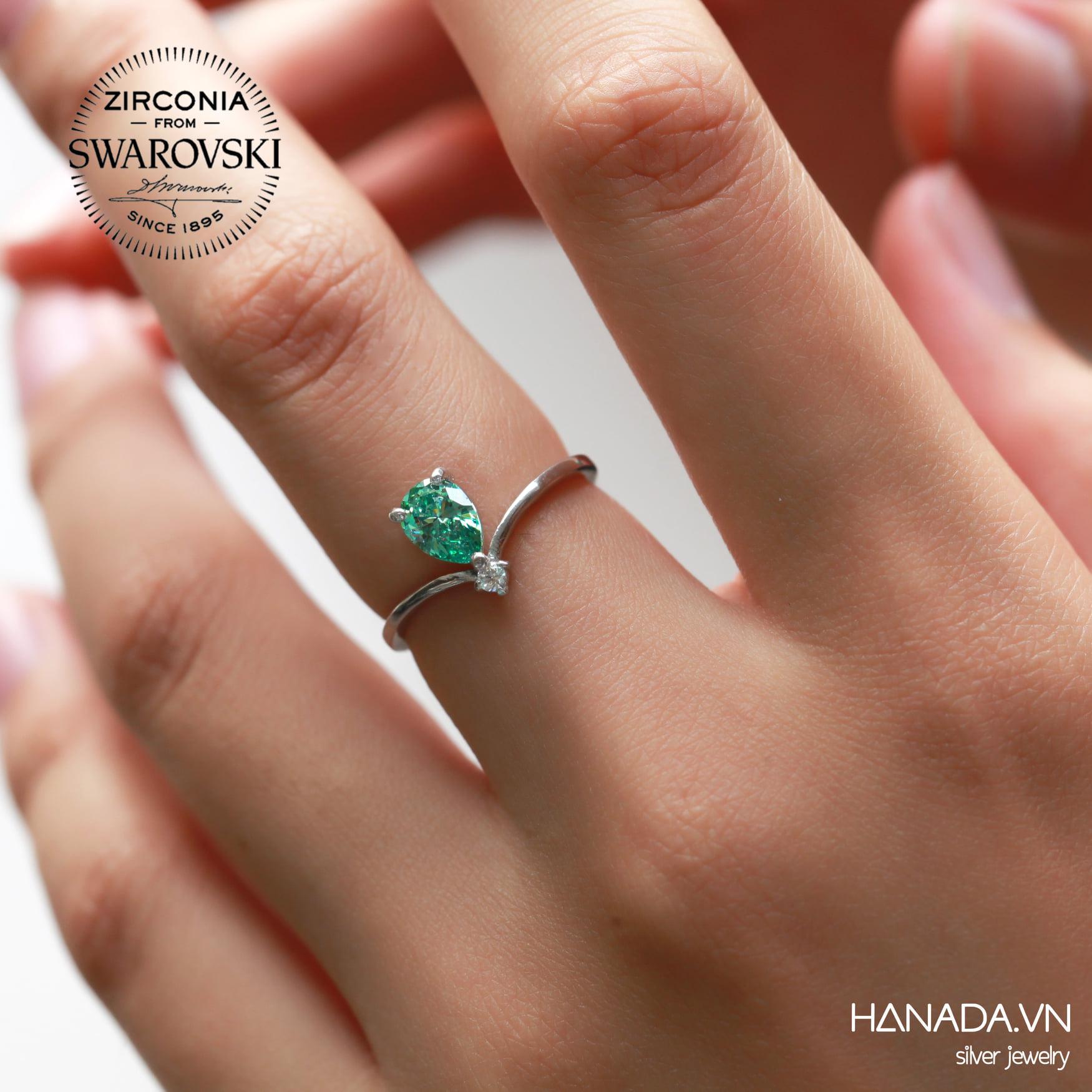 Nhẫn Bạc 925 Hanada Nhẫn Premium-Swarovski Crown HA.N1234.R.2.S.1200. 0685