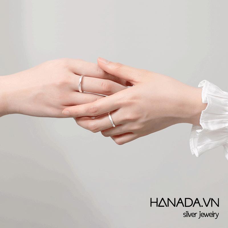 Nhẫn Bạc 925 Hanada N1234.RCM.0.S.300.0097 Xoắn trơn