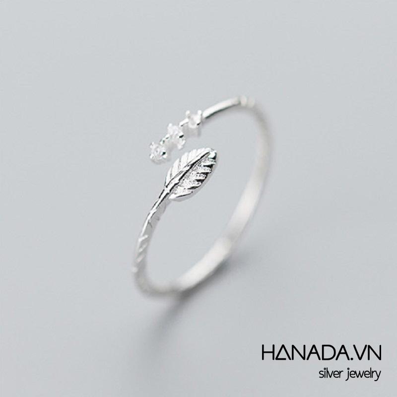 Nhẫn Bạc 925 Hanada Mũi Tên Đá