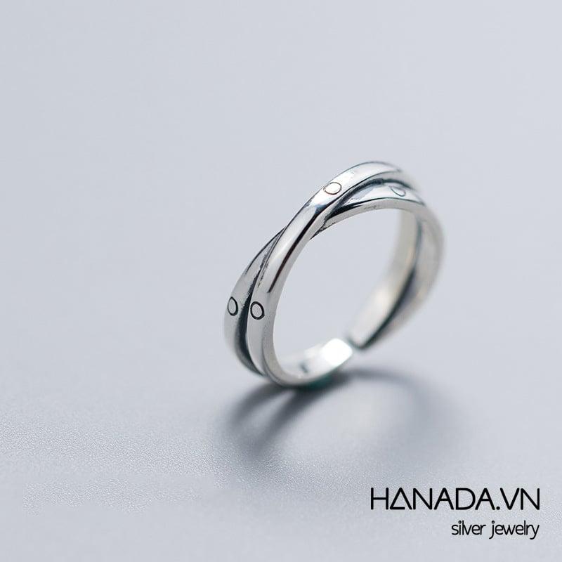 Nhẫn Bạc 925 Hanada N34.R.0.B.240.0539 Thái Chéo