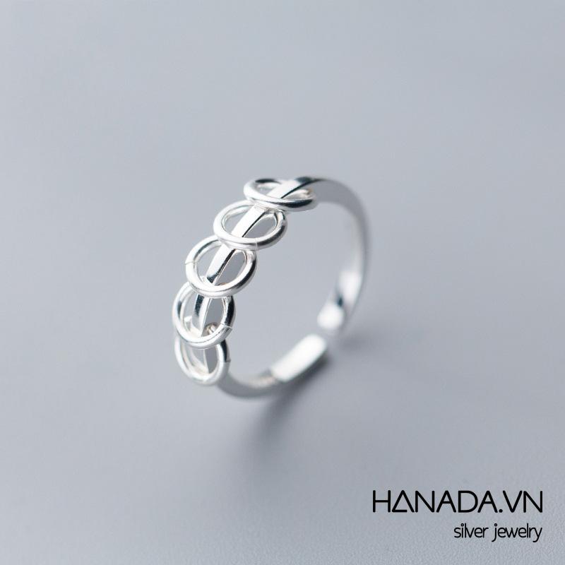 Nhẫn Bạc 925 Hanada N34.R.0.B.240.0013 Unisex Nhiều Vòng Tròn