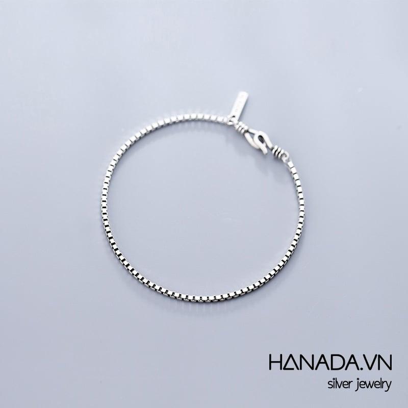 Lắc Tay Bạc 925 Hanada N1234.B.0.S.280.0236 Unisex Xi Đen