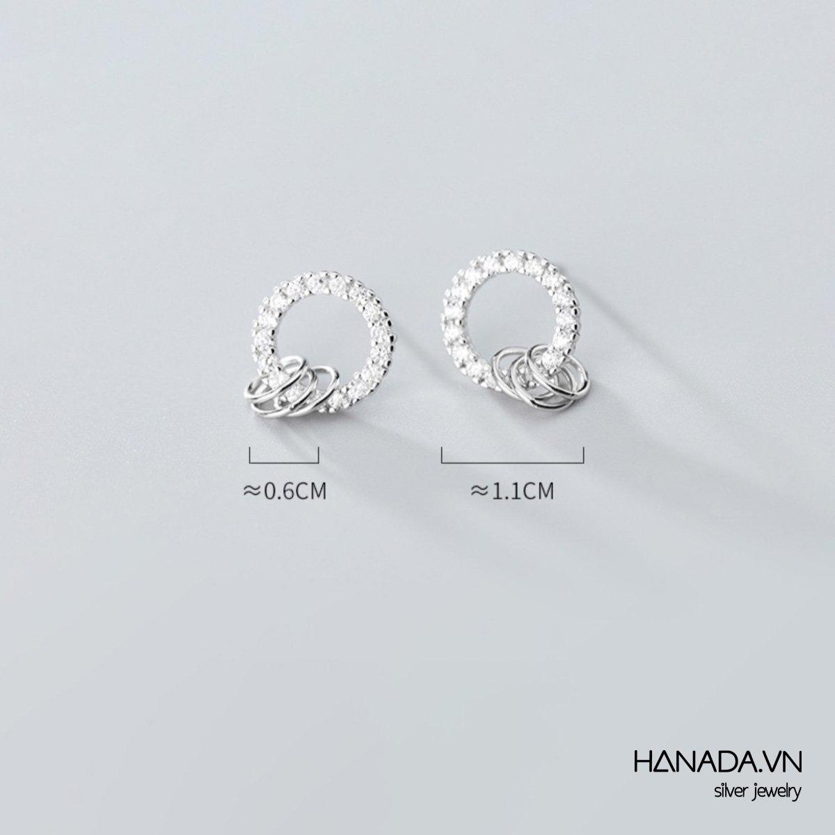 Bông Tai Bạc 925 Hanada E10 20