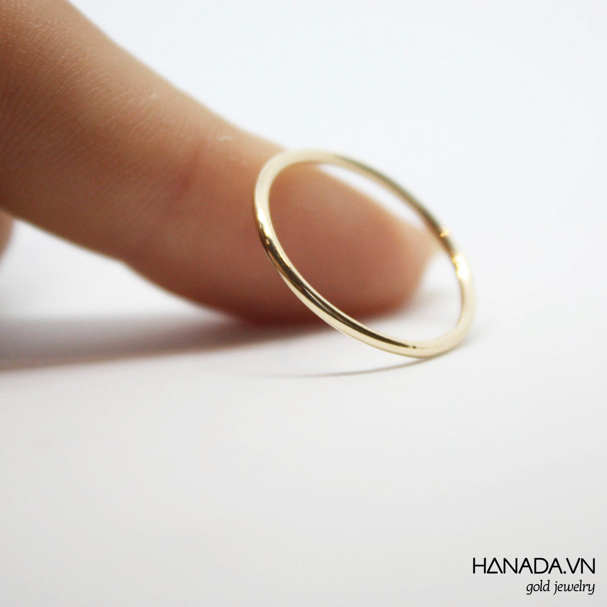 Nhẫn Vàng 14k Hanada Nhẫn Trơn Mảnh