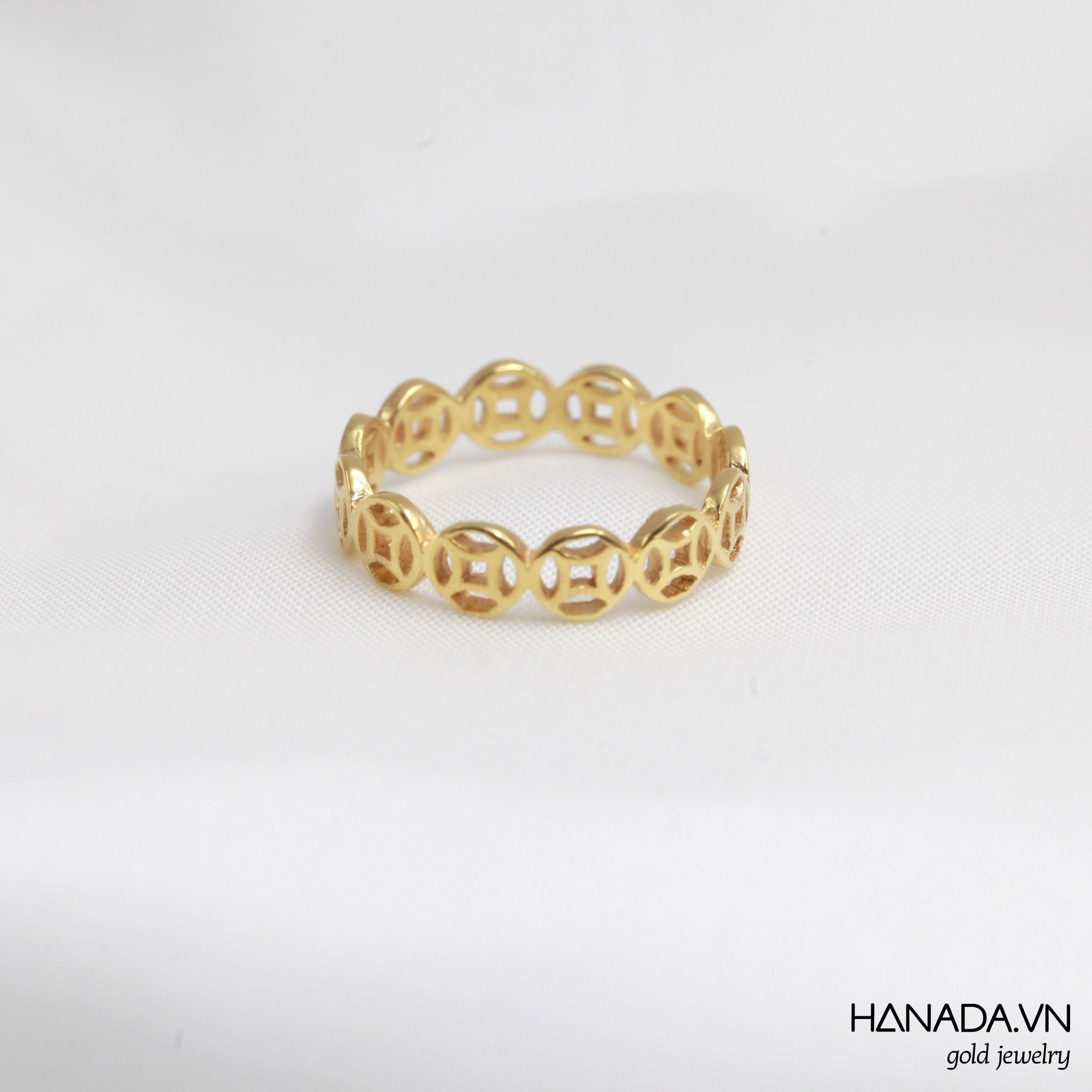 Nhẫn Vàng 14k Hanada Kim Tiền