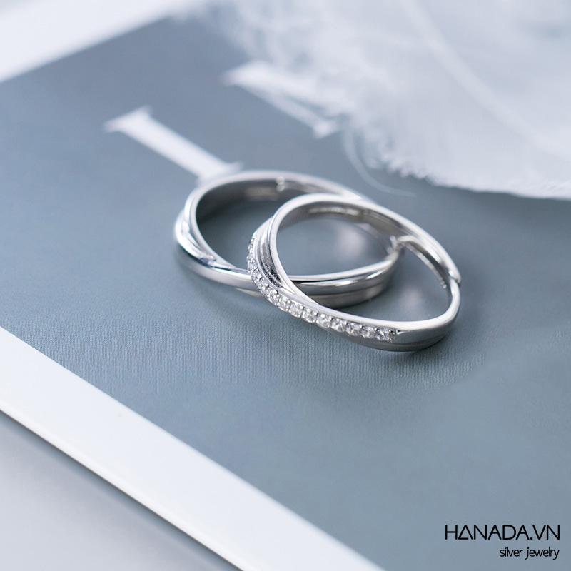 Nhẫn Bạc 925 Hanada N1234.RCM.0.B.300.0647 Nhẫn Chéo