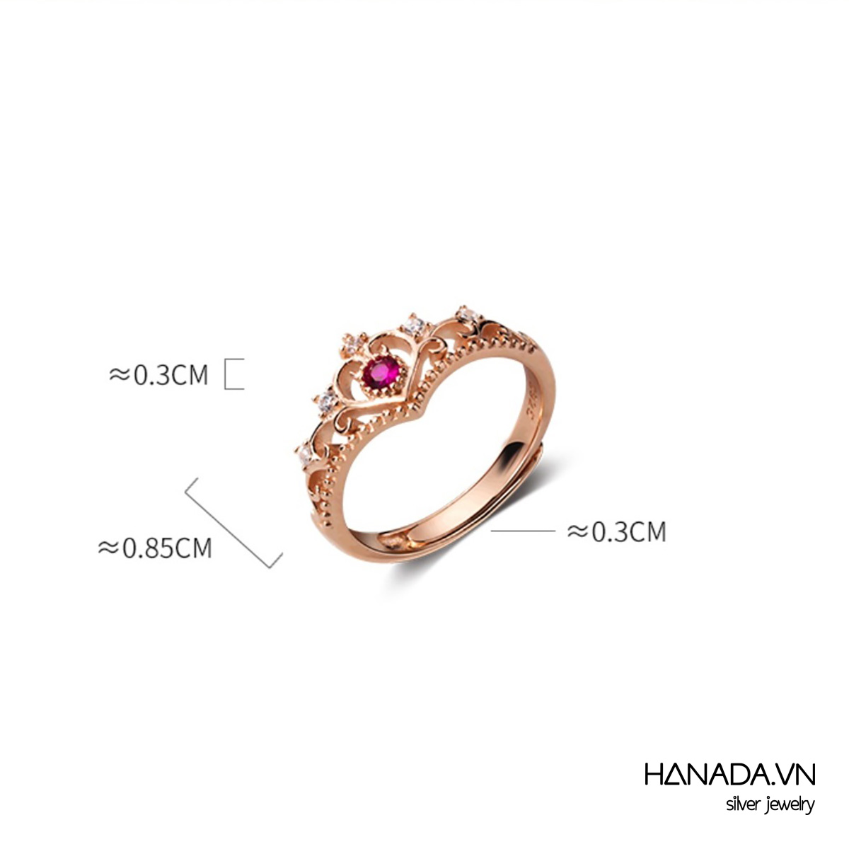 Nhẫn Bạc 925 Hanada R11 10