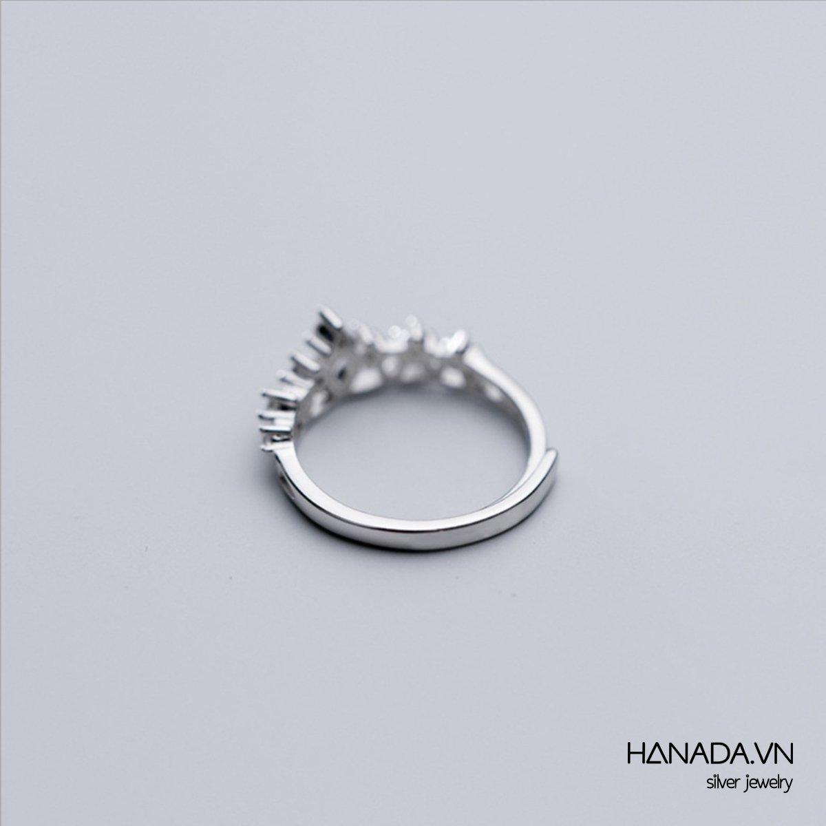 Nhẫn Bạc 925 Hanada Vương Miện