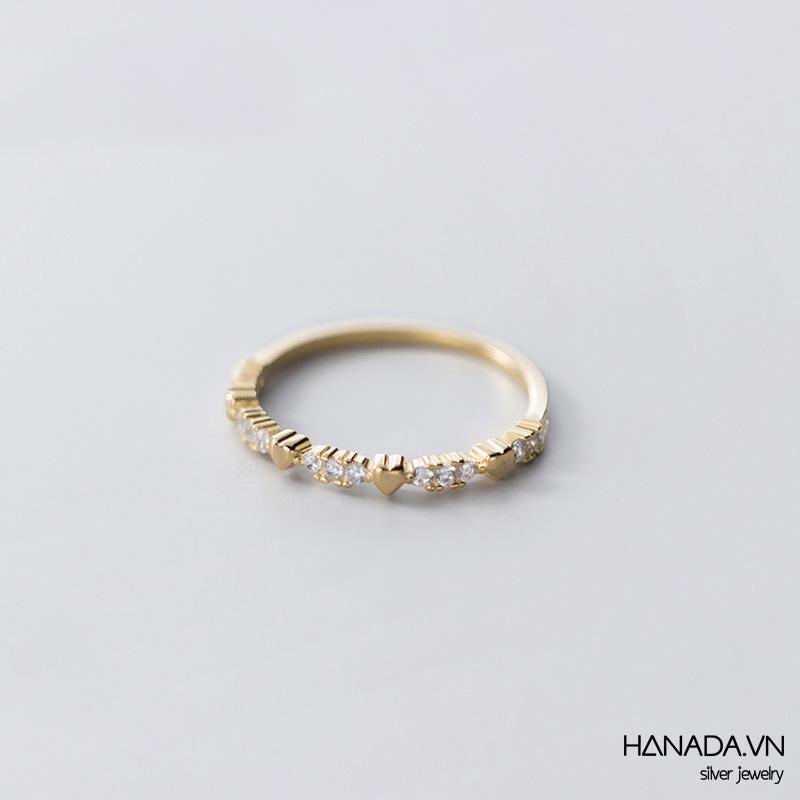 Nhẫn Bạc 925 Hanada N1234.R.2.S.200.0642 Tim Và Đá