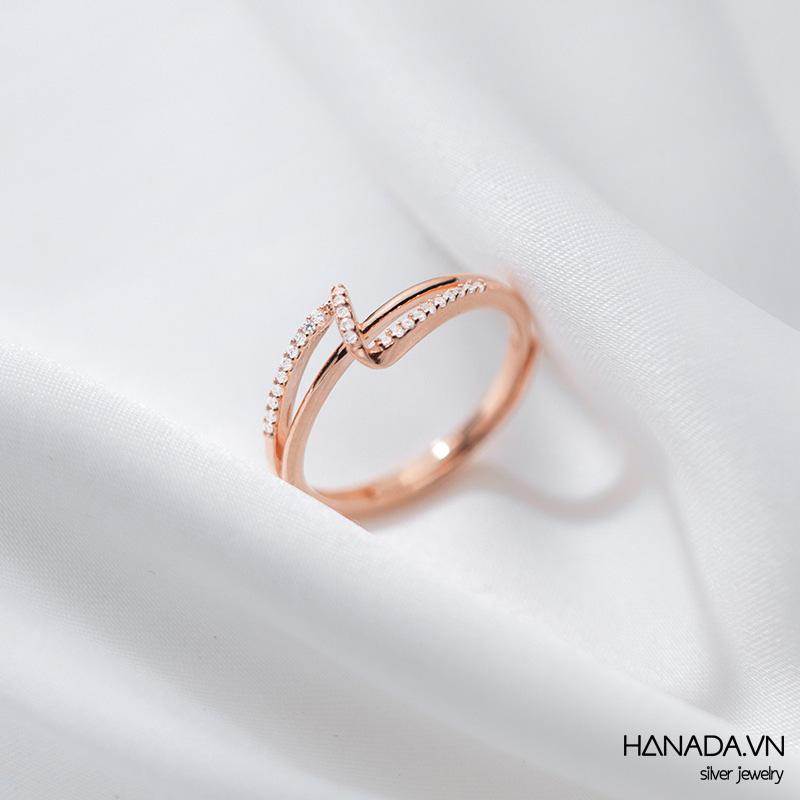 Nhẫn Bạc 925 Hanada N1234.R.2.S.240.0644 Chữ Z Đá