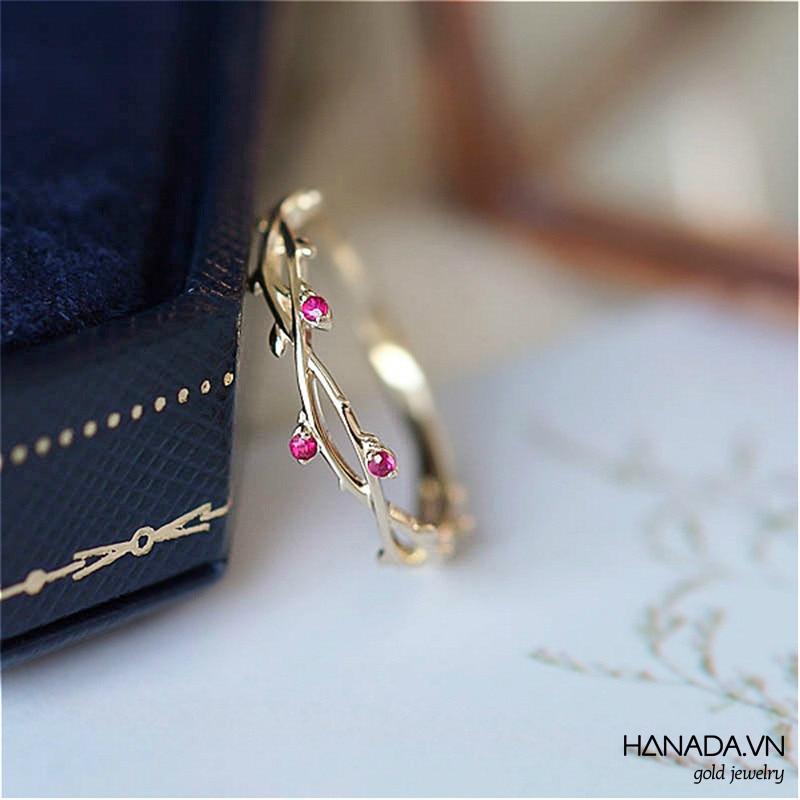 Nhẫn Vàng 14k Hanada Nhẫn Hoa Hồng