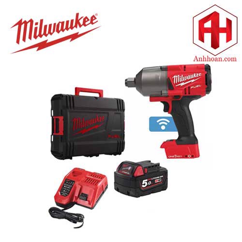 Milwaukee Máy siết bu lông pin 18V One key M18 ONEFHIWF34-501X (SET 1x5Ah)