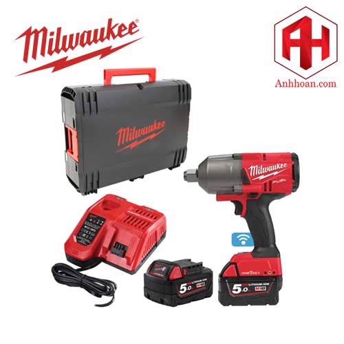 Milwaukee Máy siết bu lông pin 18V One key M18 ONEFHIWF34-502X (SET 5Ah)