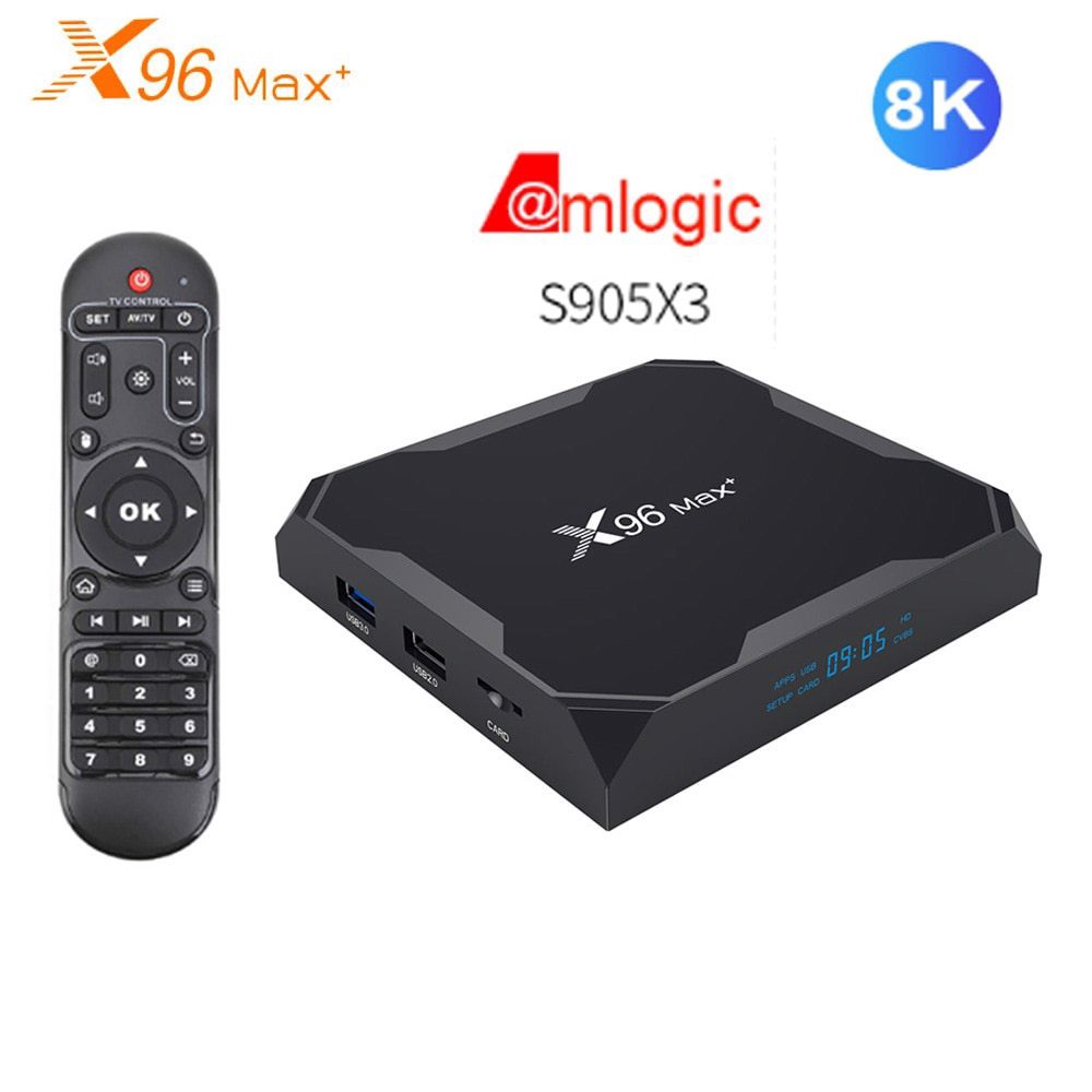 TV Box X96 Max Plus 8K RAM 4G