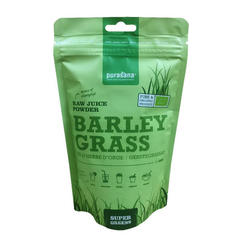 Bột nước ép cỏ lúa mạch hữu cơ Purasana 200g
