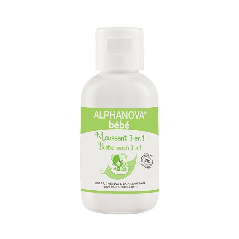 Sữa tắm gội hữu cơ tạo bọt cho bé 3 trong 1 Alphanova Bebe 50ml