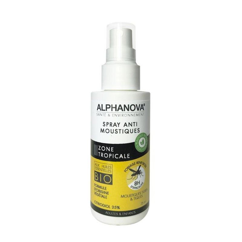 Xịt chống muỗi hiệu quả 8h Alphanova Sante & Environement 75ml
