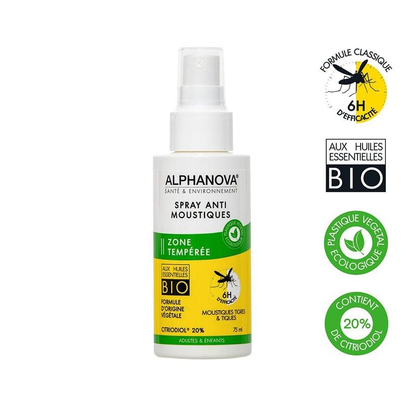 Xịt chống muỗi hiệu quả 6h Alphanova Sante & Environement 75ml