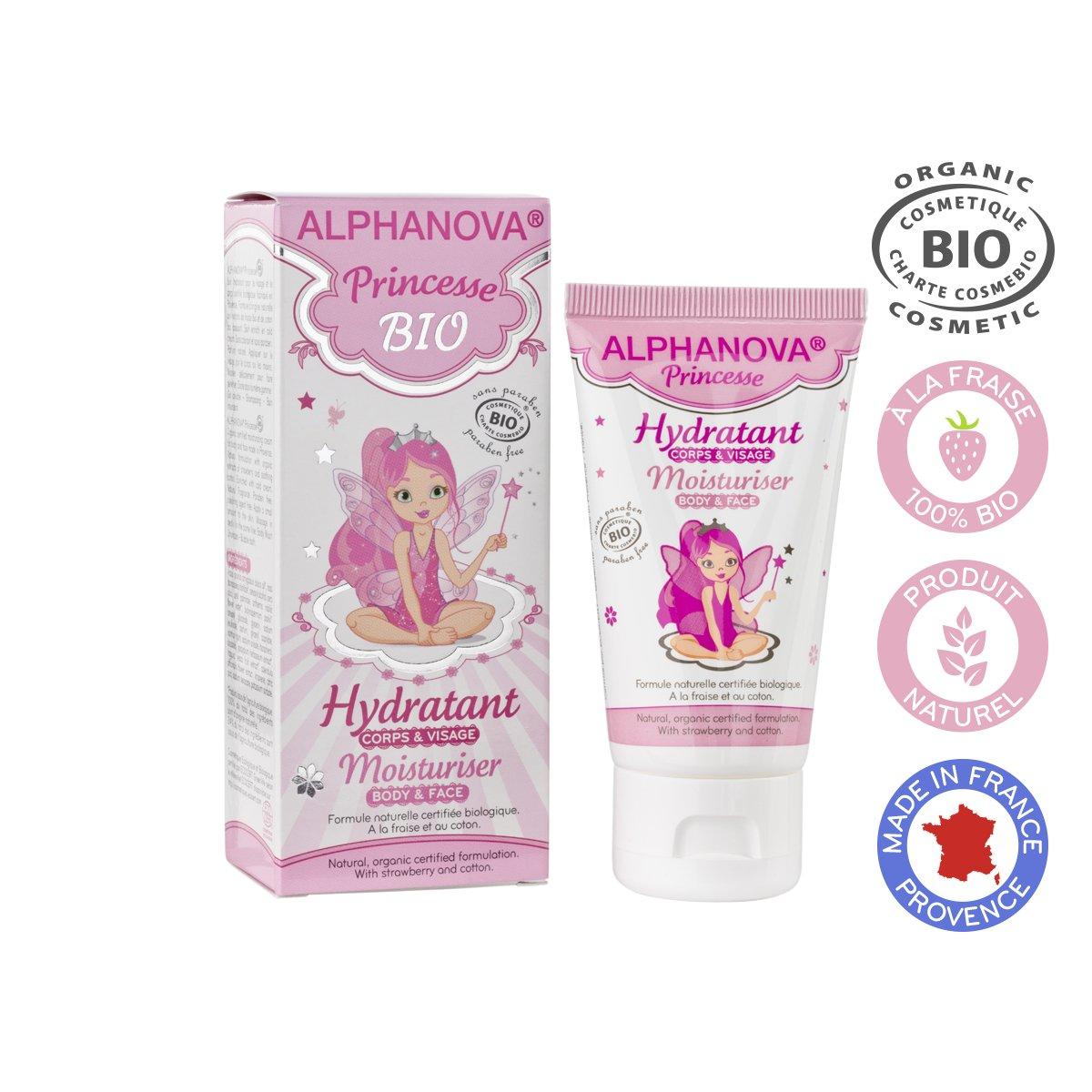 Kem dưỡng mặt và cơ thể hữu cơ cho bé gái Alphanova Princesse 50ml