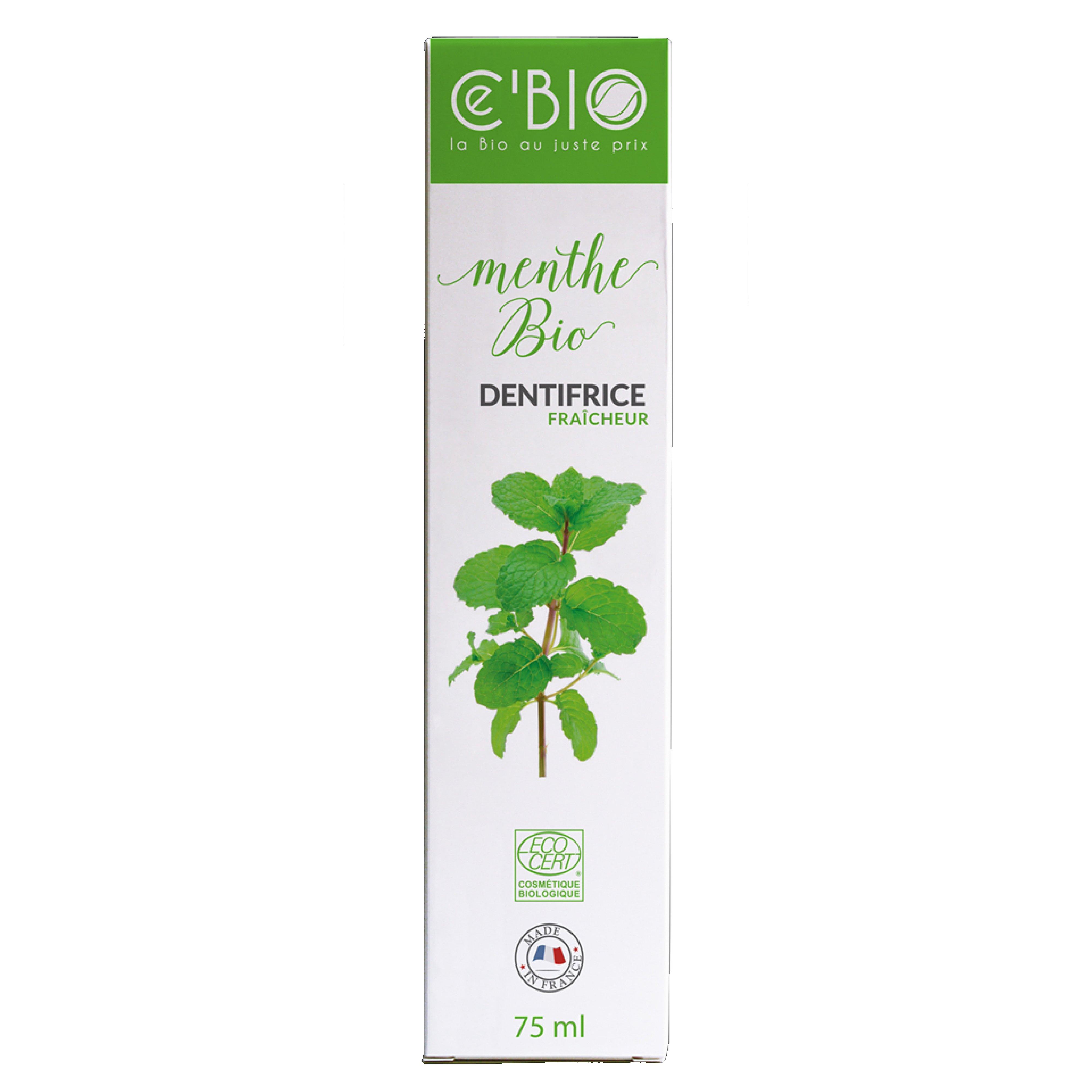 Kem đánh răng hữu cơ Gravier Cé Bio hương bạc hà 75ml