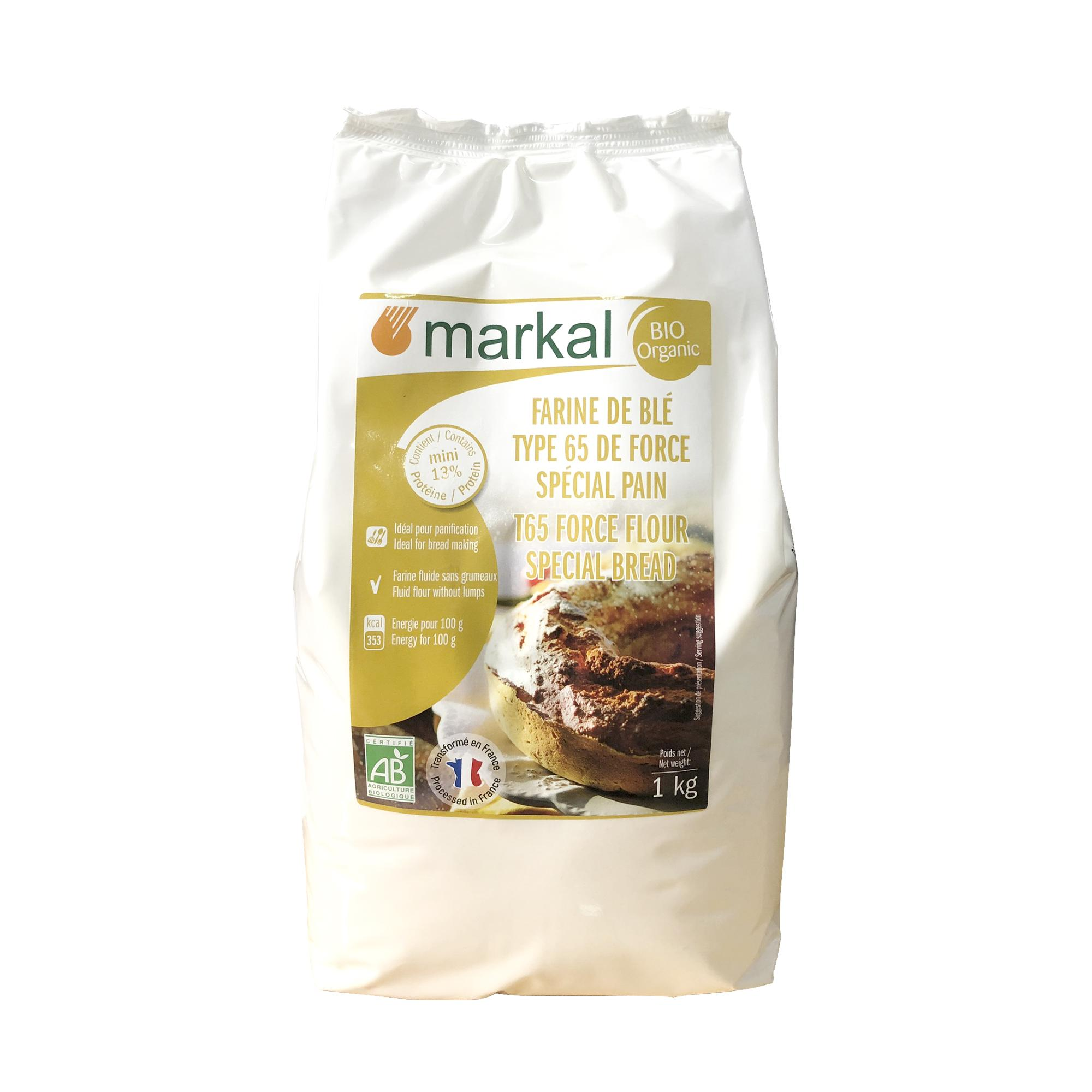 Bột mì hữu cơ T65 Markal 1kg (Protein > 13%)