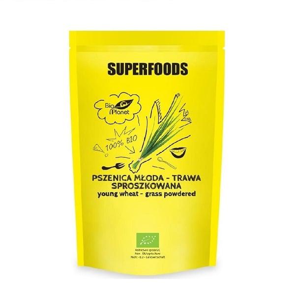 Bột cỏ lúa mì hữu cơ Bio Planet 150g