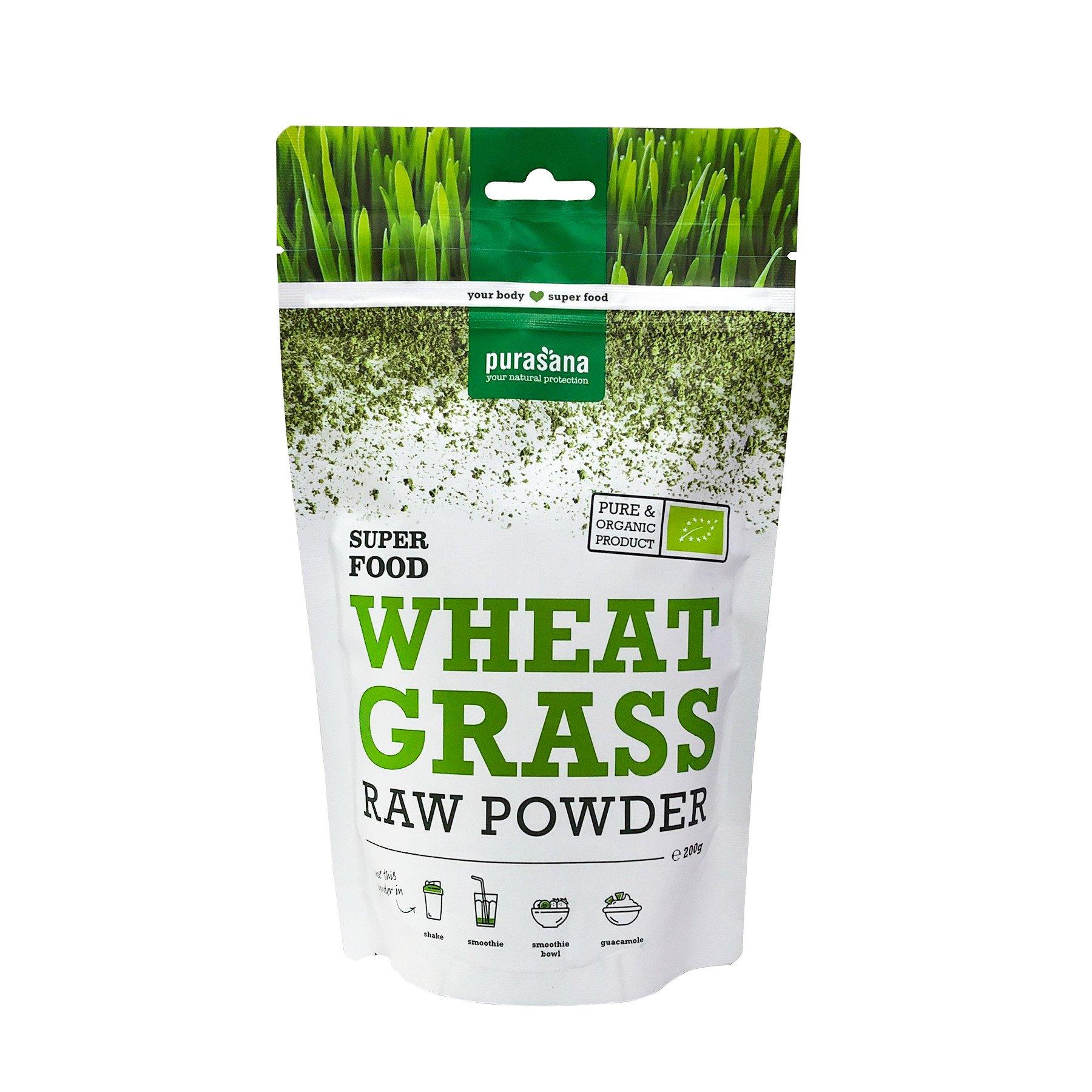 Bột cỏ lúa mì hữu cơ Purasana 200g