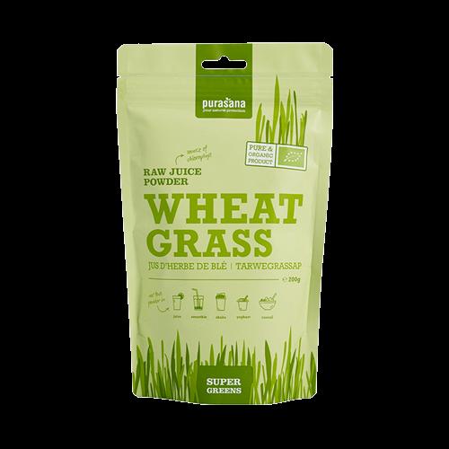 Bột nước ép cỏ lúa mì hữu cơ Purasana 200g